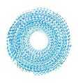 Abstract background Circle of the dotted line Blue vector image