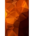 Abstract orange with brown background polygon vector image