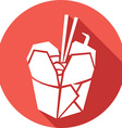 Chinese Food Icon vector image