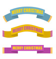 Merry Christmas Winter scarf Warm accessory vector image