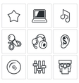 Set of Perfomance Icons Glory Equipment vector image