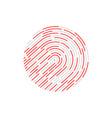 touch identification fingerprint vector image