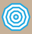 umbrella with blue stripes top view vector image