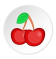Red cherry icon cartoon style vector image