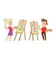 Artist kids children set vector image