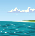 Calm view of the seaside vector image