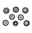 Car tyres set vector image vector image