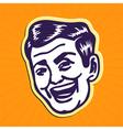Vintage charming portrait of smiling retro man vector image