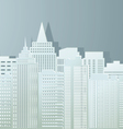 Contour of buildings of the city from paper vector image