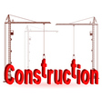 crane construction vector image