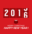 2016 New Year Card Odometer Style vector image