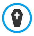 Coffin Rounded Icon vector image