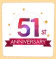 colorful polygonal anniversary logo 2 051 vector image vector image