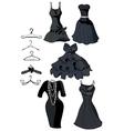 Little black dresses vector image
