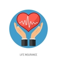 Insurance Flat Icons vector image vector image