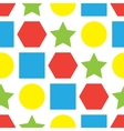 Colorful seamless background with geometric forms vector image