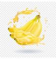 banana fresh juice fruit icon vector image