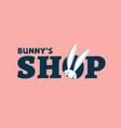bunnys shop logo vector image