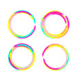 circle brush frame set of color circle vector image