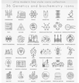 Genetics and biochemistry technology ultra vector image