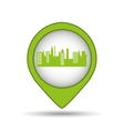green city pin map icon vector image