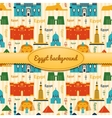 Landmarks of Egypt background vector image