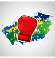glove boxing olympic games brazilian flag colors vector image