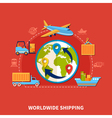 Flat Logistic Composition vector image vector image