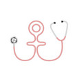 stethoscope in shape of female symbol vector image