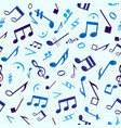 blue music seamless pattern vector image