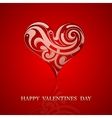 St Valentine greeting card design vector image vector image