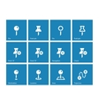 Mapping Pin icons on blue background vector image