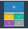 Set of flat video player for web and mobile apps vector image vector image
