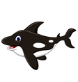 killer whale cartoon vector image vector image