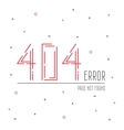 404 error connection vector image