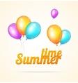 summer ballon card vector image vector image