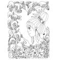 zentangl girl child with vector image vector image