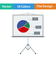 Flat design icon of Presentation stand vector image
