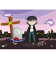 A vampire at the cemetery vector image