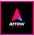 Arrow Up Letter A logo vector image
