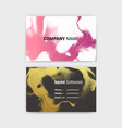 business card template with ink background design vector image