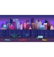 city game background 2d application design vector image