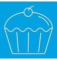 Cupcake thin line icon vector image