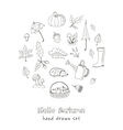 cute hand drawn autumn set vector image