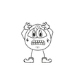 emoticon panic sketch vector image