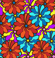 floral background field of multi colored bright vector image