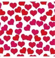 hearts love concept valentine seamless pattern vector image