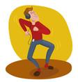 man dancing in headphones vector image