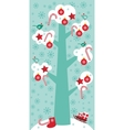 Merry Christmas card design Big tree with white vector image