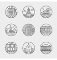 set of thin icons design set Moder simple vector image